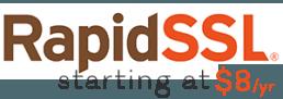 Low Cost RapidSSL SSL/TLS Certs